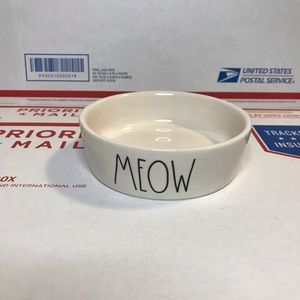 NEW Rae Dunn MEOW Small Cat Food Bowl